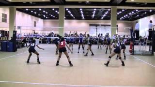 MLK Volleyball Tournament: 17 Open Gold Bracket: AVVC 17 National vs. Infinity 17 Blue