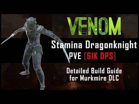 Stamina Dragonknight Build [61k DPS] - Murkmire DLC