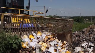 FROMAGICIDE: Russia destroys tons of banned cheese with bulldozer