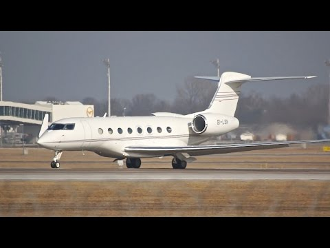 Gain Jet Ireland Gulfstream Aerospace G650 EI-LSN departure at Munich Airport