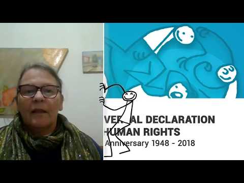 Doris Apolonia Russo, Brazil, reading article 3 of the Universal Declaration of Human Rights