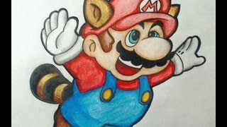 How to draw Flying Mario - Super Mario Bros. 3