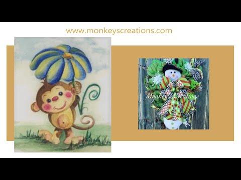 Monkey's Creations   Snowman Door Hanger / Easy DIY Christmas Wreath