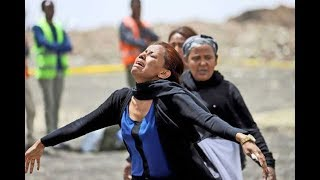 Families of Ethiopian Airlines crash victims visit the crash site thumbnail