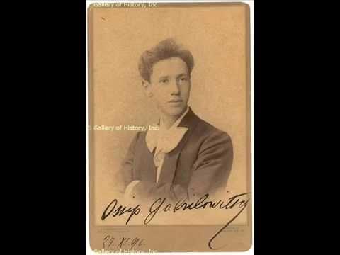 F. CHOPIN -- Fantaisie-Impromptu; 2 Études op. 25 n. 2 & 8. O. Gabrilowitsch, piano