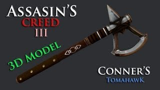 Assassin's Creed 3 Connor's Tomahawk 3d model