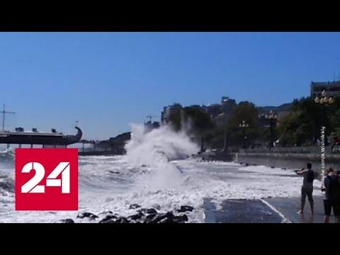 """""""Погода 24"""": шторм на Русском юге не стихает - Россия 24"""