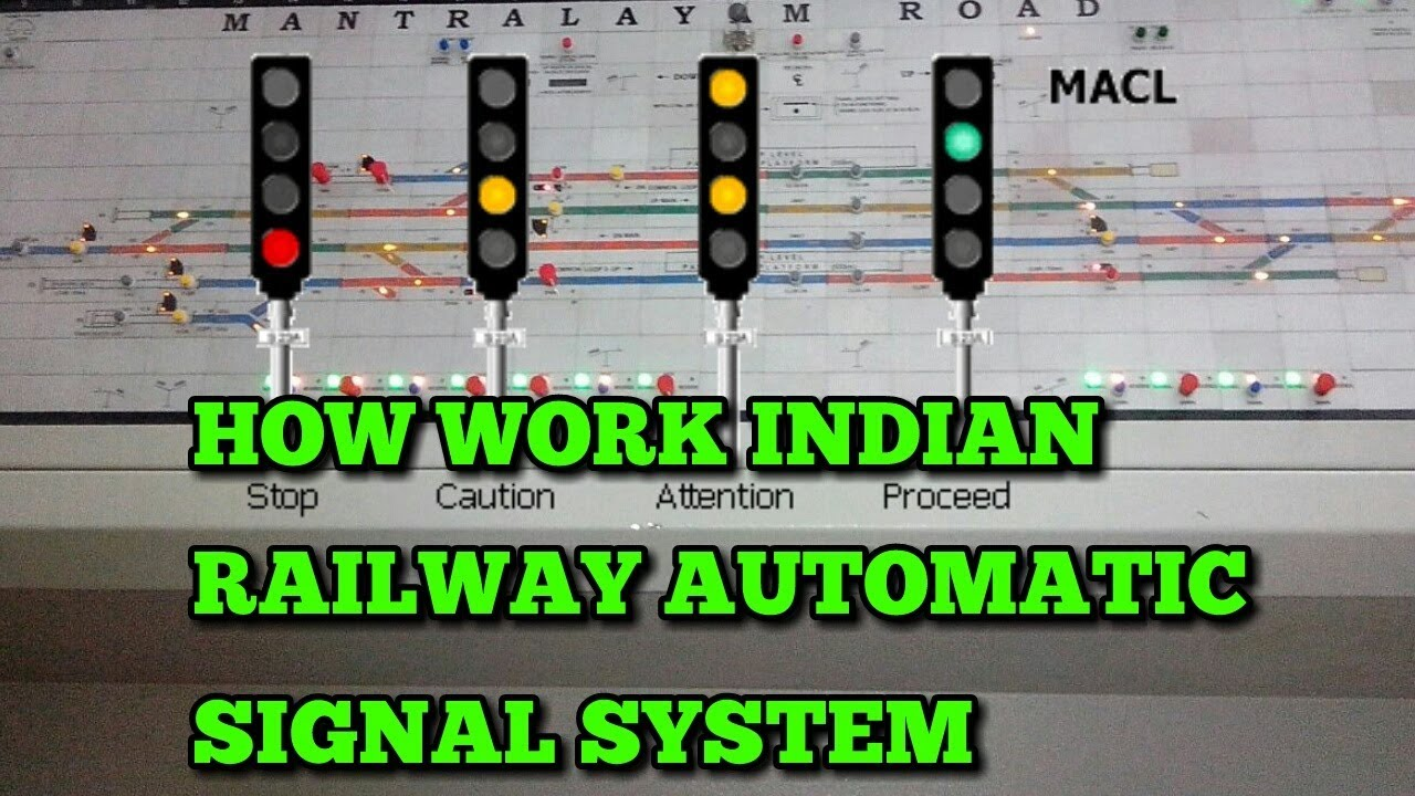 Indian railway automatic signal system youtube