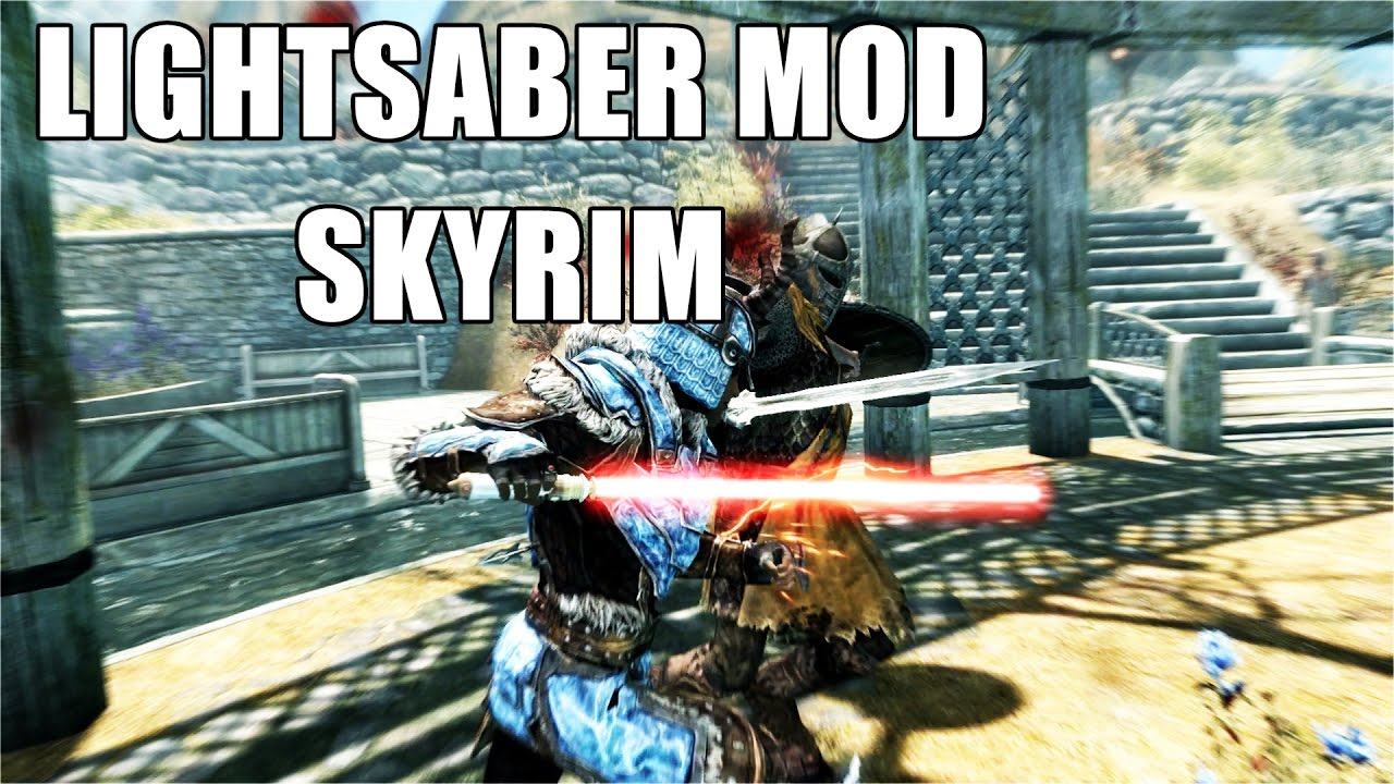 Skyrim Remastered Lightsaber or Unique Magicka Saber Xbox One Console Mod