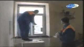Установка стеклопакета(Строительный портал http://donosvita.org представляет видео о том как правильно устанавливать стеклопакеты., 2012-03-27T07:54:07.000Z)