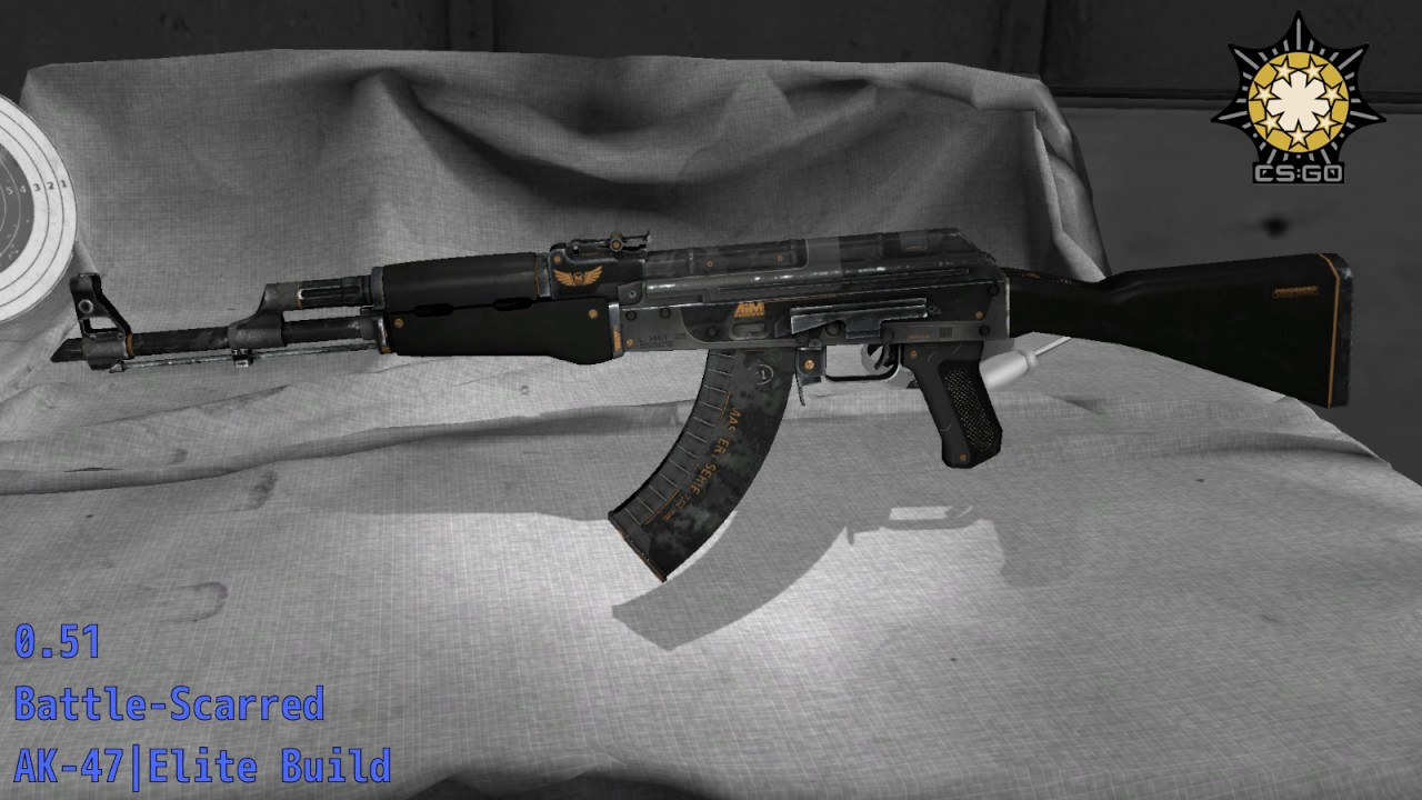 Ak 47 elite build well worn сервер fast drop cs go