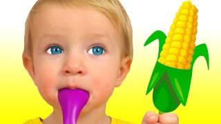 Да да овощи и другие детские песни | Песни для детей от Кати и Димы