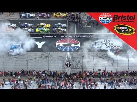 Synchronized burnouts for Harvick and Stewart