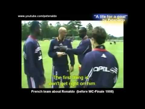 Ronaldo ( discussion in French teams training)  France 98.flv