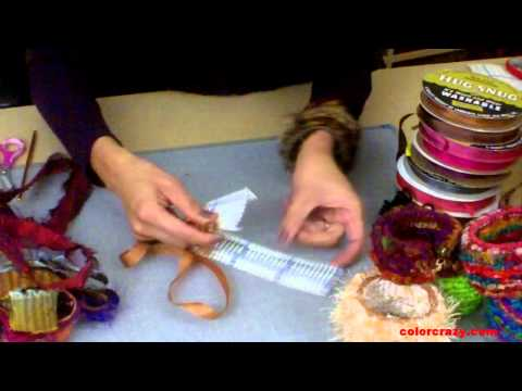 How to Make Locker Hooked Bangle Bracelets