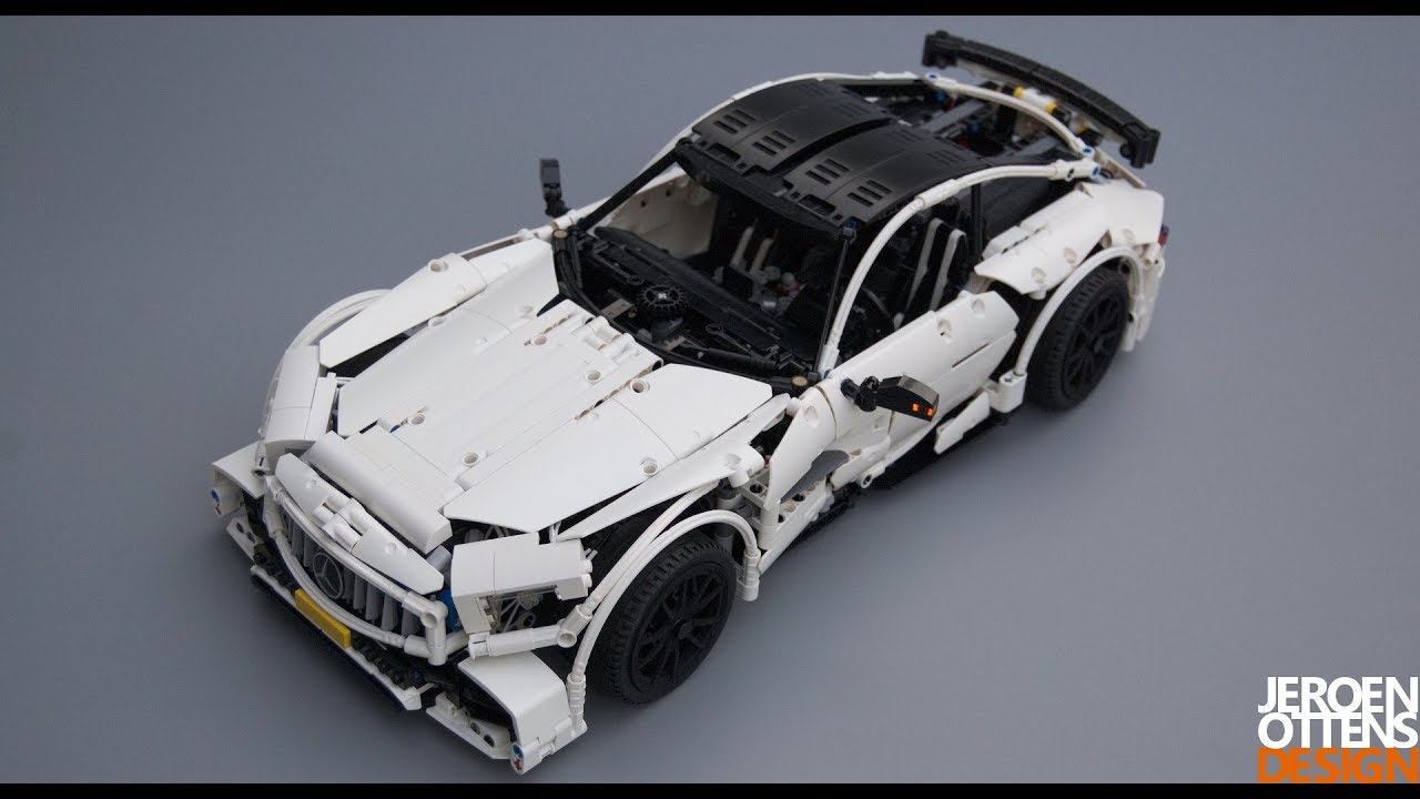 lego technic 1 10 replica of the mercedes amg gt r youtube. Black Bedroom Furniture Sets. Home Design Ideas