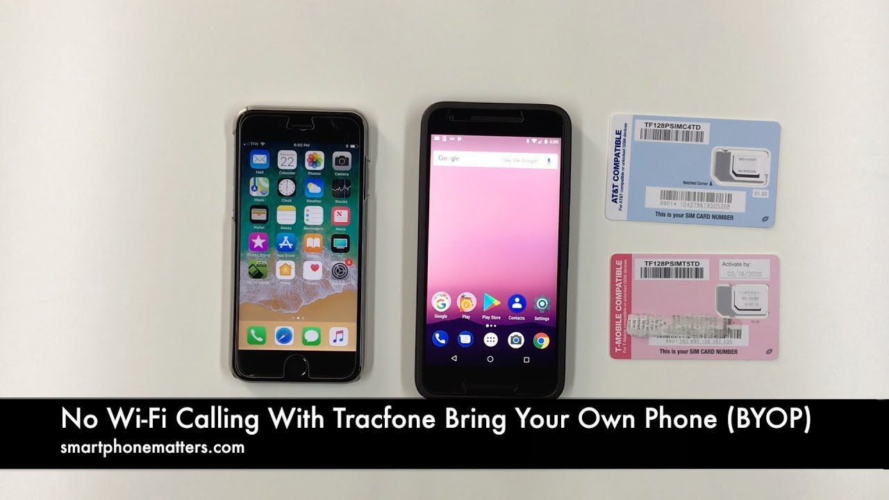 No Wi-Fi Calling With Tracfone Bring Your Own Phone (BYOP)