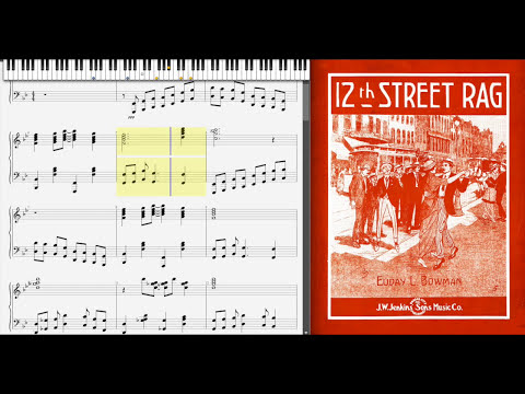 12th Street Rag by Euday Bowman (1915, Ragtime piano)