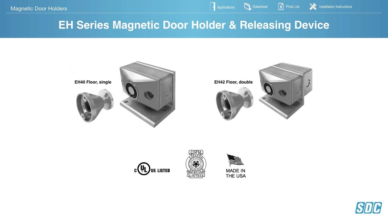 maxresdefault magnetic door holders youtube magnetic door holder wiring diagram at readyjetset.co