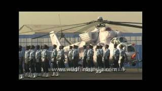 Marching men in uniforms - Indian Air Force day!