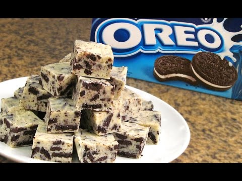 Fudge de Oreo y Chocolate Blanco sin Horno | Solo 3 ingredientes!!