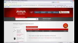 Avaya Support Creating a Support Ticket