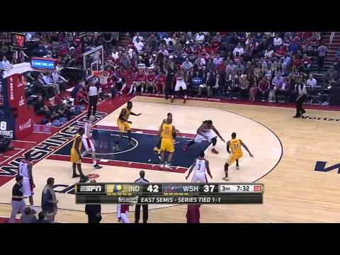 Indiana Pacers vs Washington Wizards - Game 3 Highlights - NBA Playoffs 2014