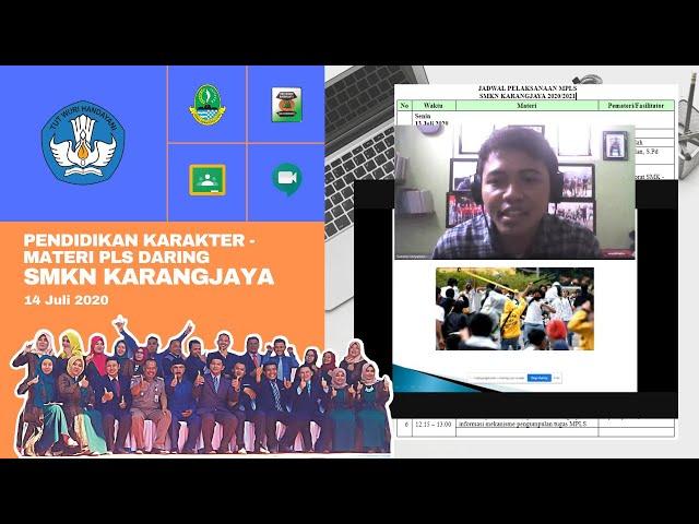 Webinar Pendidikan Karakter - MPLS Daring SMKN Karangjaya
