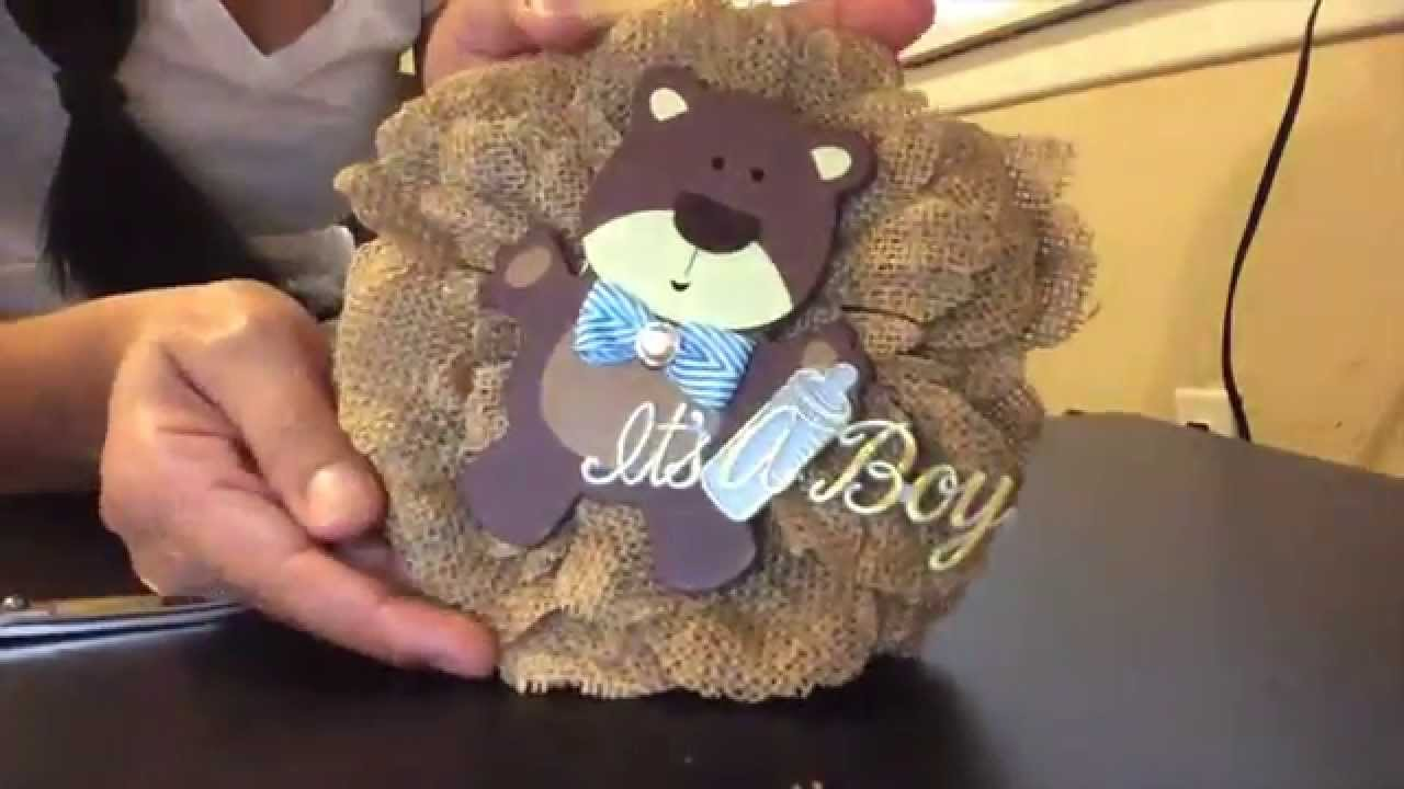 Baby Shower Corsage DIY   YouTube