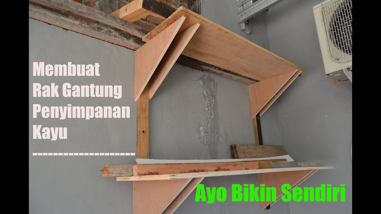 Mb membuat rak penyimpanan kayu grbbr for Kitchen set kayu