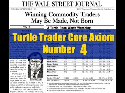 Turtle Trader Core Axiom Number 4
