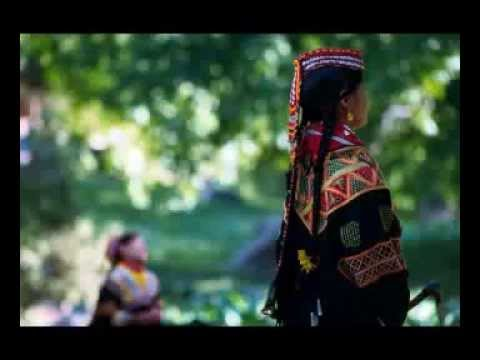 Kalash Girls Reminants of White Huns, Hepthalites, Huna Peoples from Hindu Kush Mountains