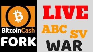 Bitcoin Cash Fork LIVE - ABC vs SV Hash War