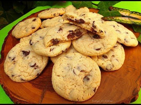 Бисквитки с дъх на масло и капки шоколад
