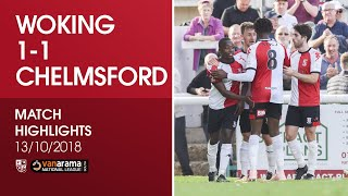 Woking 1 - 1 Chelmsford City | Match Highlights