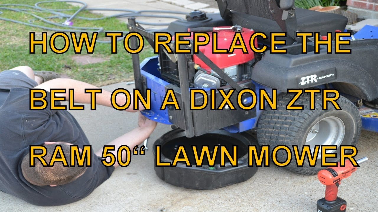 dixon lawn mower parts diagram 3 switch wiring how to replace the mule belt on a ram 50 zero turn other models similar youtube