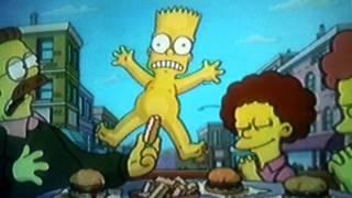 Bart simpsons nackt auf dem skateboard in HD
