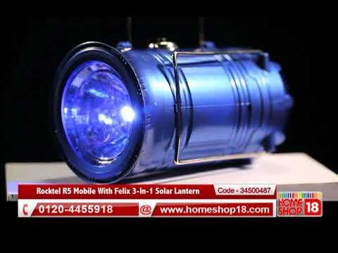 Homeshop18.com - Rocktel R5 Mobile With Felix 3-In-1 Solar Lantern