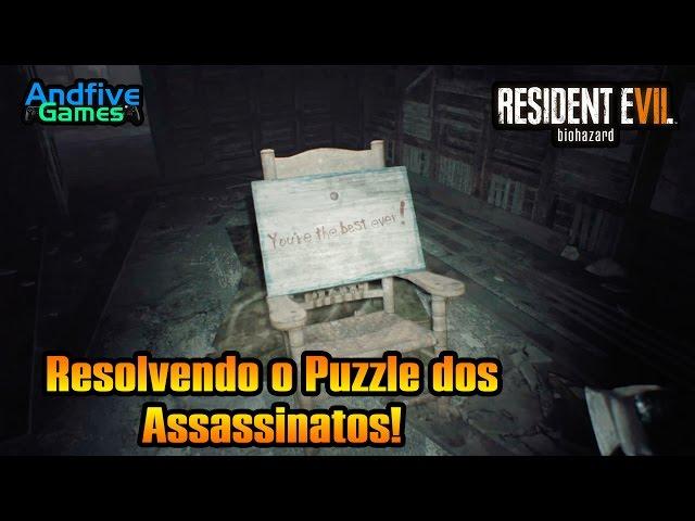 Resident Evil 7 Resolvendo o Puzzle dos Assassinatos (Dedo de Manequim) Todos os Segredos