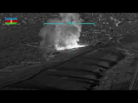 Ermənistan ordusuna məxsus silah-sursat anbarı məhv edilib - VİDEO