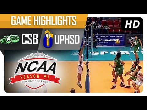 NCAA 91 Men's Volleyball: CSB vs UPHSD Game Highlights