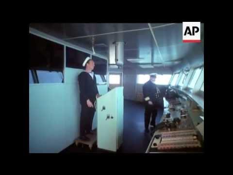 Ocean liner QEII maiden voyage - Queen Elizabeth 2 - 1969