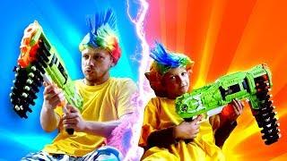 Видео игры стрелялки - Нерферы стали детьми - Бластеры Нерф игрушки для мальчиков