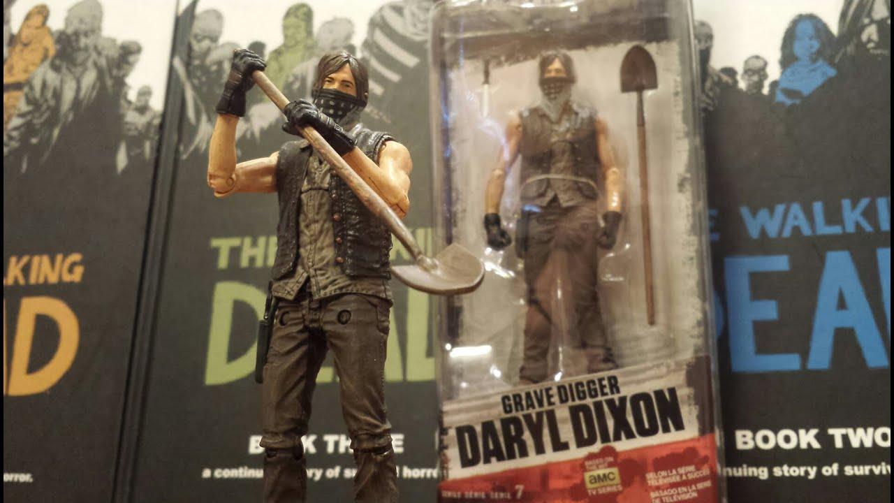 Mcfarlane walking dead series 6 daryl dixon action figure - The Walking Dead Tv Series 7 5 Grave Digger Daryl Dixon Action Figure Hd Youtube
