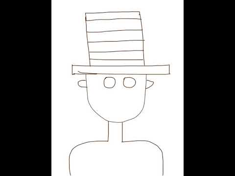 It's just a photo of Smart Cat In The Hat Directed Drawing