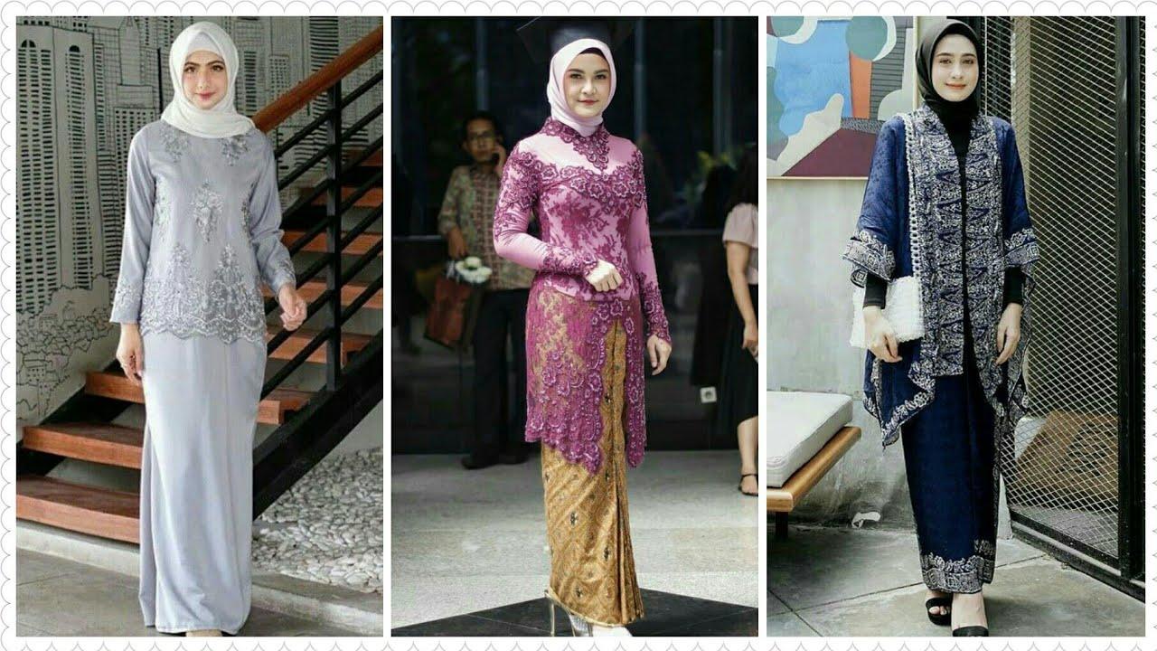 10 Model Baju Kebaya Brokat dengan Setelan Hijab Terbaru 10/10