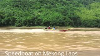Mekong speedboat between Luang Prabang and Huay Xai in Laos