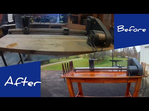 Lathe restoration and table build with reclaimed wood | woodworking | DIY |