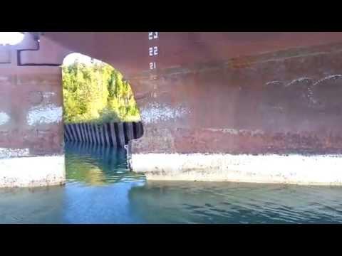 Stripped Iron Ore Ship in the U.P. of Michigan