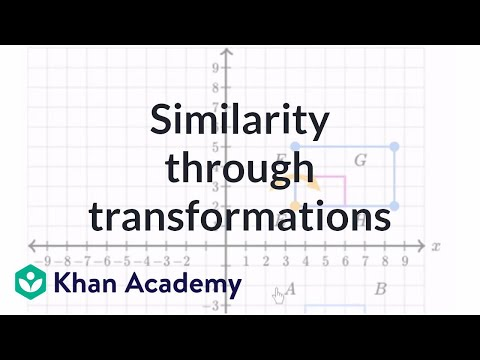Testing similarity through transformations | Similarity | Geometry | Khan Academy